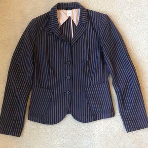 Blue pinstripe blazer